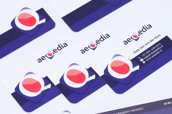visitekaartje & briefpapier aeqedia